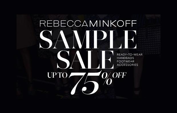 rebecca minkoff sample sale fall 2013