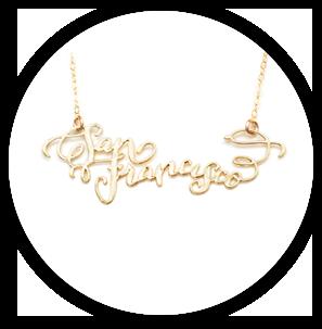 Brevity city necklace