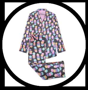 P.J. Salvage Macaron Cotton Flannel PJ Set