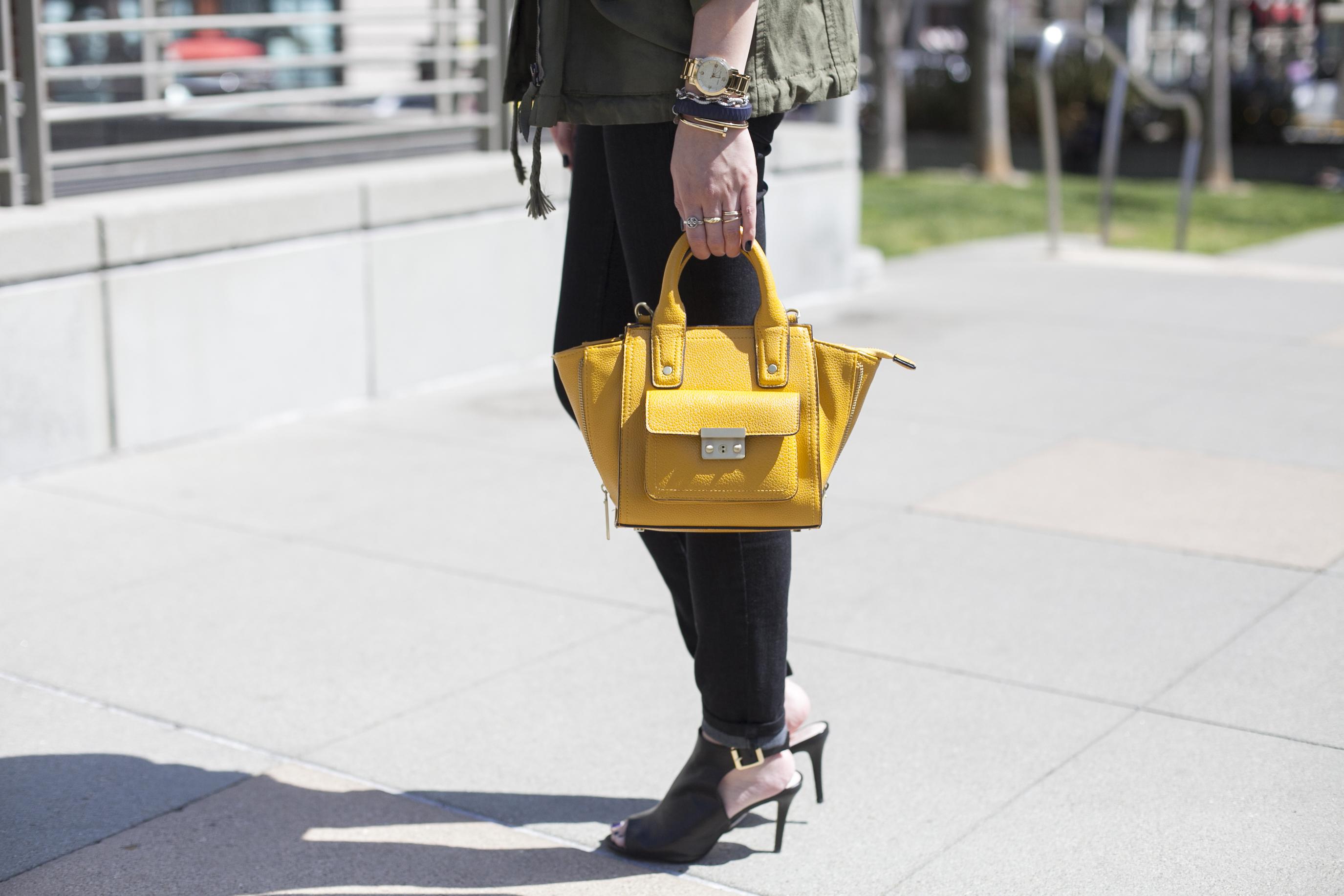 phillip lim yellow satchel