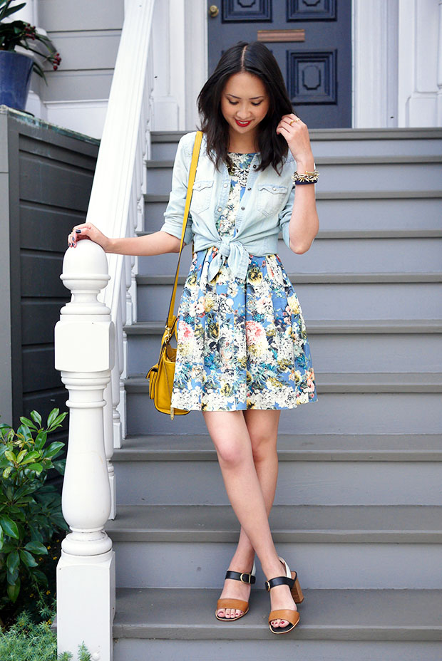 58_07_jyjz_floral_dress_chambray_shirt_nicole_bonny_sandals