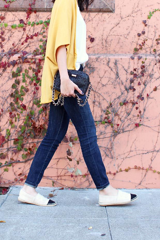 61_05_jyjz_yellow_slouchy_sweater_current_elliot_stilleto_chanel_espadrilles