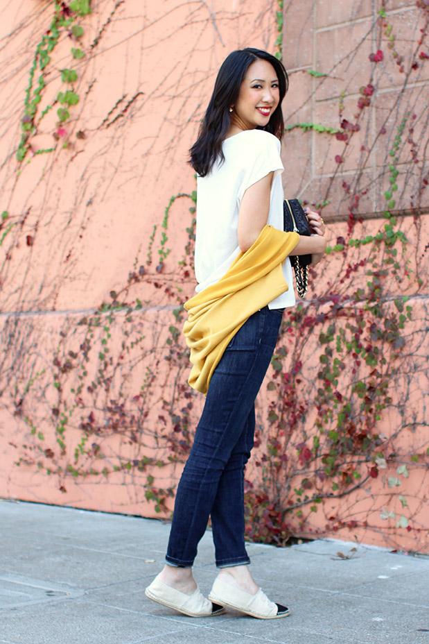 61_06_jyjz_yellow_slouchy_sweater_current_elliot_stilleto_chanel_espadrilles