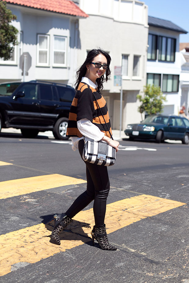 H&M crop top stripes fall 2014